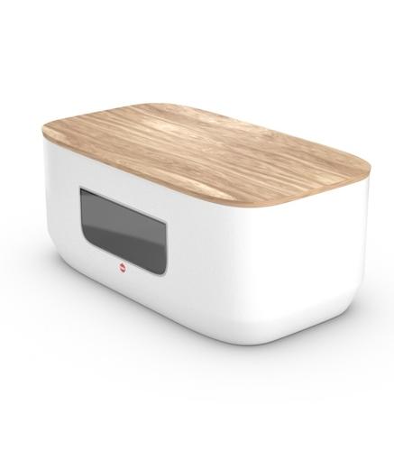 KitchenLine Design chlebník bílý