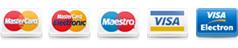 Ikony: MasterCard, MasterCard Electronic,Maestro, Visa,Visa Electron, V Pay